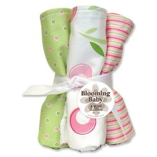 Tulip Four Piece Terry Burp Cloth Set
