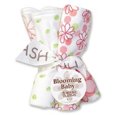 Hula Baby Blooming Bouquet 5 Pack Wash Cloth Set