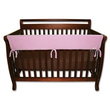 "51"" Pink Fleece Front Crib Rail Cover"