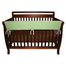 "51"" Sage Fleece Front Crib Rail Cover"