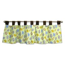 Chibi Zoo Tab Top Tailored Curtain Valance