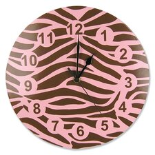 Sweet Safari Pink Wall Clock