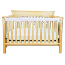 Long Fleece Crib Wrap Narrow Rail Cover in White