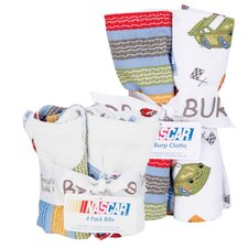 NASCAR Bouquet Bib and Burp Cloth Set