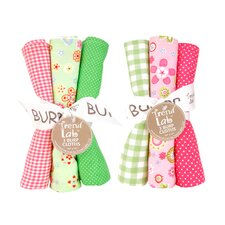 6 Piece Sherbet Burp Cloth Set