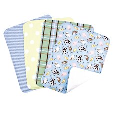 Baby Barnyard Bouquet Burp Cloth (Set of 4)