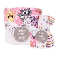 Lola Fox Bouquet Hooded Towel and Wash Cloth Set