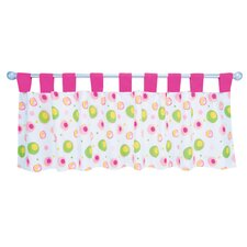 Splash Cotton Tab Top Tailored Curtain Valance