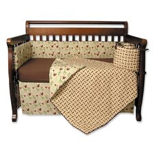 Jungle Jam 4 Piece Crib Bedding Set