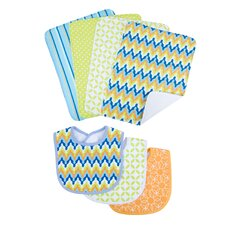 Levi Bouquet Bib and Burp Cloth Set