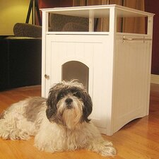 Open Box Price Pet House Nightstand in White