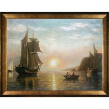 Bradford A Sunset Calm in The Bay of Fundy Canvas Art