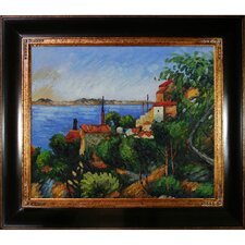 Cezanne La Mer Al'Estaque Canvas Art