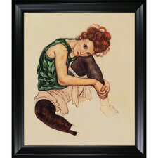 Schiele The Artist's Wife Canvas Art