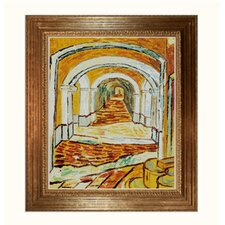 Van Gogh Corridor of Saint-Paul Asylum in Saint-Remy Canvas Art