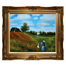 Monet Poppy Field in Argenteuil Canvas Art