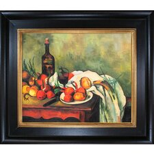 Still Life with Onions and Bottle Canvas Art