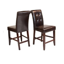 Cosmopolitan Deluxe Tufted Bar Stool (Set of 2)