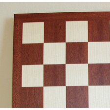 "17"" Veneer Chess Board in Mahogany / Maple"