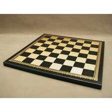 "13"" Pressed Leather Chess Board"