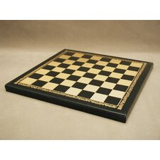 "10"" Pressed Leather Chess Board"