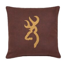 Buckmark Logo Cotton Pillow
