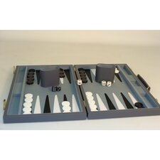 "15"" Grey Vinyl Backgammon Board Game"