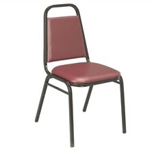 IM Series Vinyl Stacking Chair with Rectangular Back