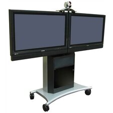 "Rolling Dual LCD/Plasma Stand for 40"" to 50"" Screens"