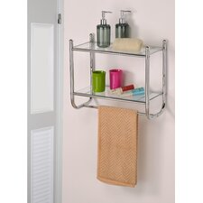 Control Brand Two tiered Glass Bath Organizer