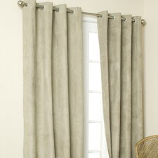 Media Suede Grommet Top Curtain Single Panel
