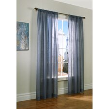 Insulated Rod Pocket Sheer Curtain Single Panel
