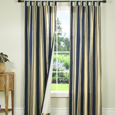 Weathermate Broad Stripe Cotton Tab Top Drape Panel Pair