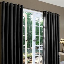 Weathermate Solid Cotton Grommet Top Curtain (Set of 2)