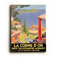 "La Corne D'Or Planked Wood Sign - 20"" x 14"""
