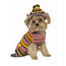 Retro Stripe Dog Sweater in Hot Pink