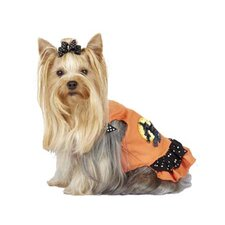 Ruffled Halloween Witch Dog Dress