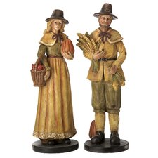 Pilgrim Figurine Set (Set of 2)