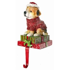 Dog on Present Stocking Holder