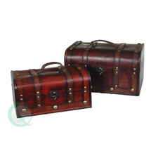 Decorative Wood Treasure Box (Set of 2)