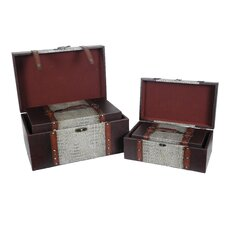 Reserved Leather Trunk (Set of 4)