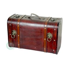 Antique Pirate Suitcase with Lion Rings