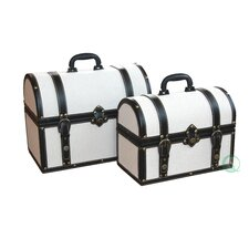 Fabric Storage Trunk (Set of 2)
