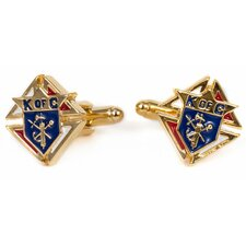 Goldtone Knights of Columbus Cufflinks