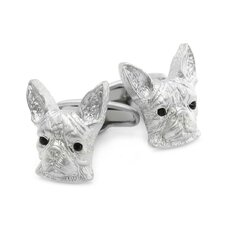 Swarovski Crystal Boston Terrier Cufflinks