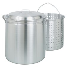 Aluminum Fryer / Steamer with Lid and Basket