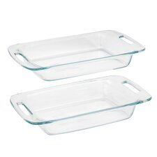 Easy Grab 2 Piece Oblong Baking Dish Set
