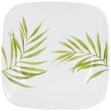 "Square Bamboo Leaf 10.5"" Dinner Plate"