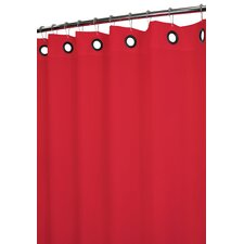 Solid Polyester Dorset Large Grommet Shower Curtain