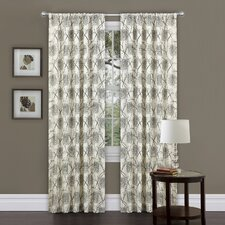 Oxford Rod Pocket Curtain Single Panel with Tieback
